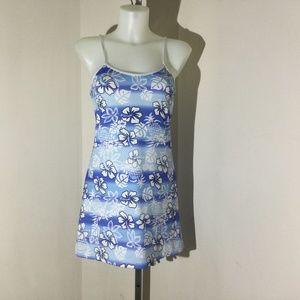 O'Neill blue/white tropics sun dress size Medium